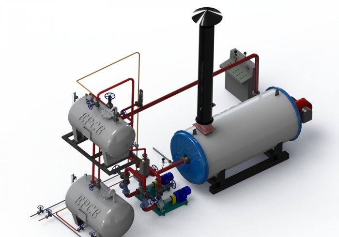 EPCB Horizontal Oil Gas Fired Thermal Oil Boiler System
