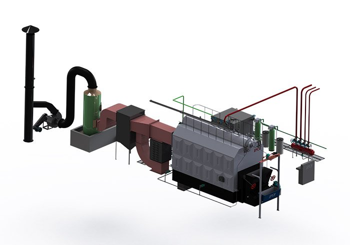 EPCB Double Drums Chain Grate Water Tube Coal Fired Steam Boiler