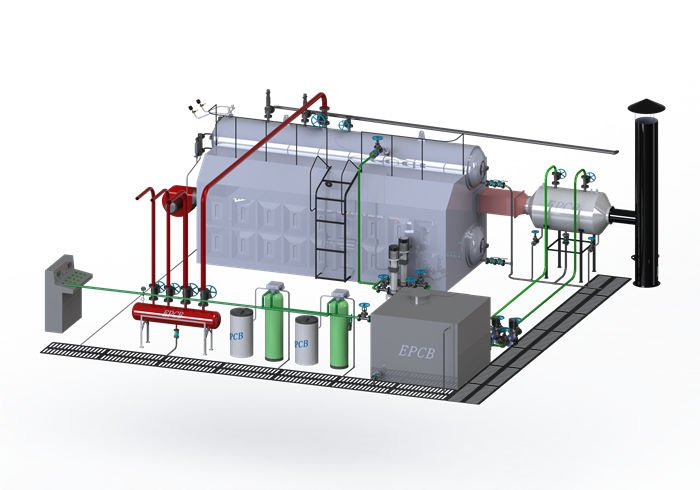 Industrial Water Tube Oil Gas Fired Steam Boiler