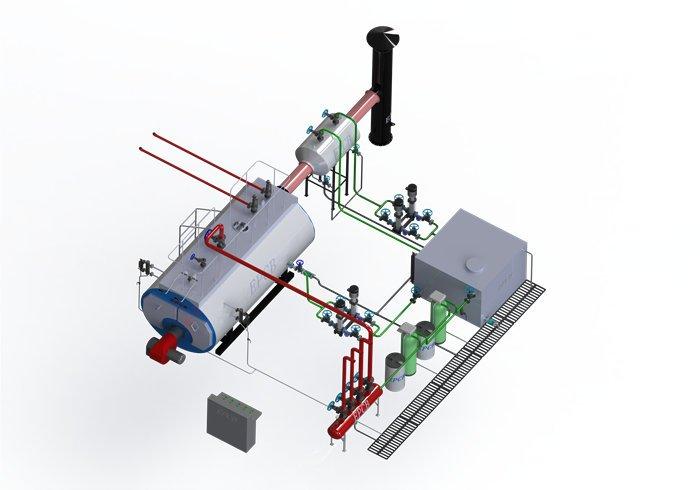 Industrial Low Pressure Fire Tube 1000kghr Diesel Oil